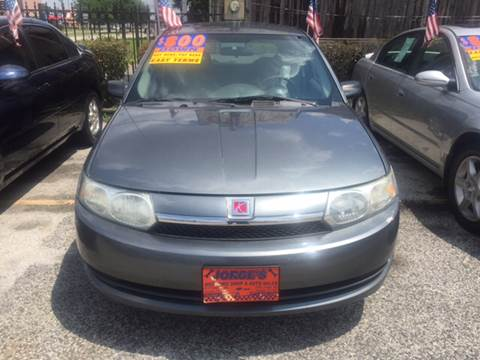 2004 Saturn Ion for sale at JORGE'S MECHANIC SHOP & AUTO SALES in Houston TX