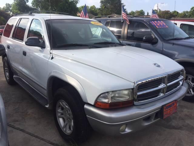 2002 Dodge Durango for sale at JORGE'S MECHANIC SHOP & AUTO SALES in Houston TX