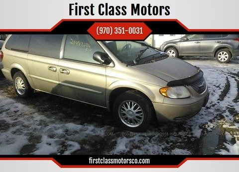 2002 Chrysler Town and Country for sale at First Class Motors in Greeley CO