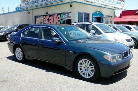 2002 BMW 7 Series for sale at First Class Motors in Greeley CO