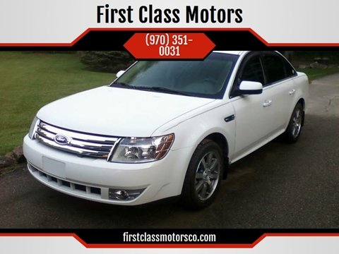 2009 Ford Taurus for sale at First Class Motors in Greeley CO