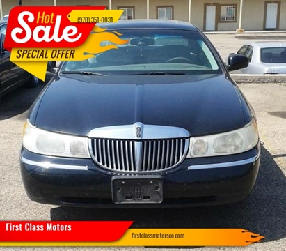 1999 Lincoln Town Car for sale at First Class Motors in Greeley CO