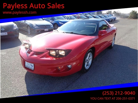 1998 Pontiac Firebird for sale in Lakewood, WA