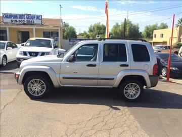 2004 Jeep Liberty for sale at Champion Auto Group in Spring Valley CA