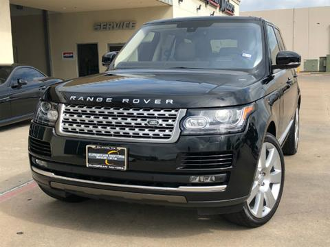 2016 Land Rover Range Rover for sale in Plano, TX