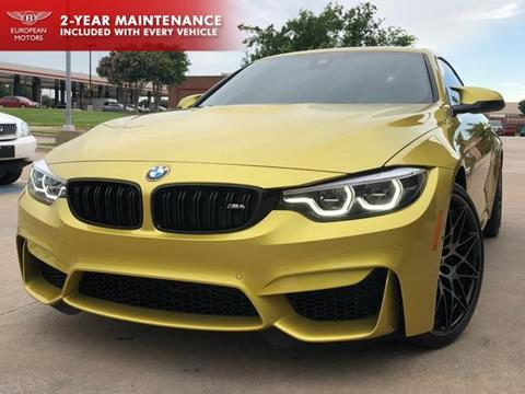 Used Bmw M4 >> 2018 Bmw M4 For Sale In Plano Tx