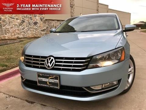 2013 Volkswagen Passat for sale in Plano, TX