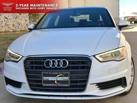 2015 Audi A3 2.0 Premium TDI for sale at European Motors Inc in Plano TX