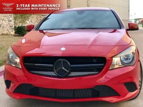 2015 Mercedes-Benz CLA CLA 250 for sale at European Motors Inc in Plano TX