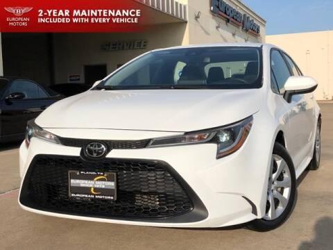 2020 Toyota Corolla for sale at European Motors Inc in Plano TX
