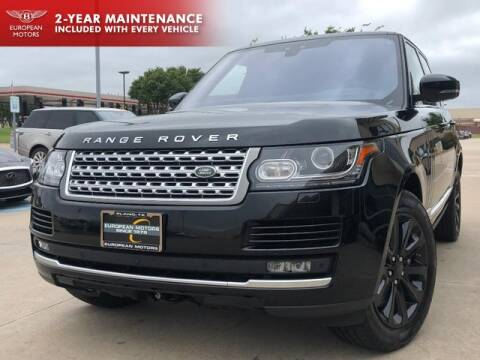 2017 Land Rover Range Rover for sale at European Motors Inc in Plano TX