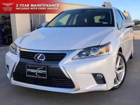 2015 Lexus CT 200h for sale at European Motors Inc in Plano TX