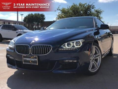 2015 BMW 6 Series for sale at European Motors Inc in Plano TX