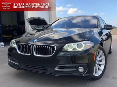 2015 BMW 5 Series for sale at European Motors Inc in Plano TX
