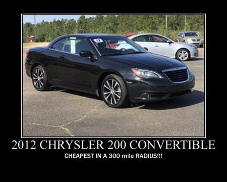2012 Chrysler 200 Convertible for sale in Wiggins, MS