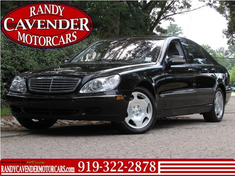 2001 Mercedes-Benz S-Class for sale in Raleigh, NC