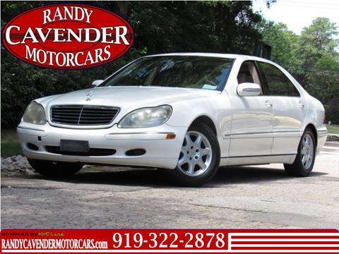 2002 Mercedes-Benz S-Class for sale in Raleigh, NC