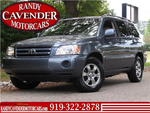 2004 Toyota Highlander for sale in Raleigh, NC