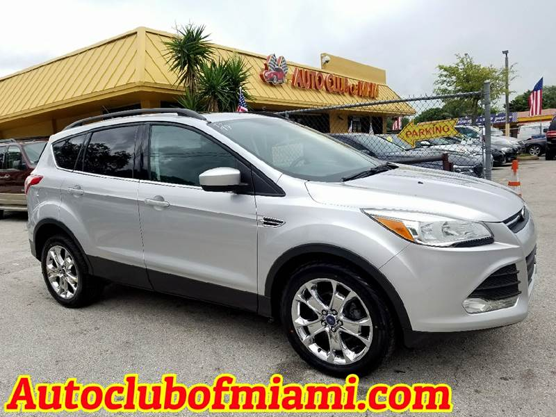 2014 FORD ESCAPE SE 4DR SUV silver startling 2014 ford escape with navigationeco boost technology