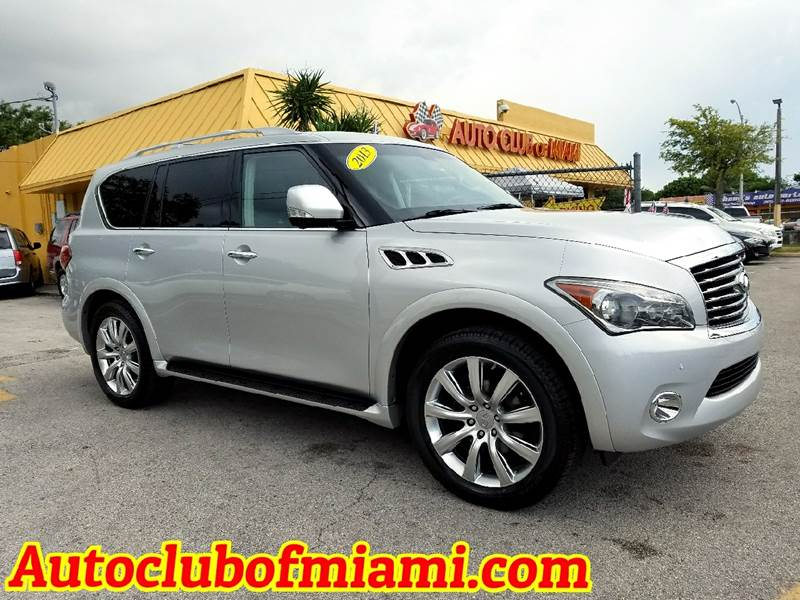 2013 INFINITI QX56 BASE 4X4 4DR SUV silver overwhelming 2013 infiniti qx56 fully loaded a must se