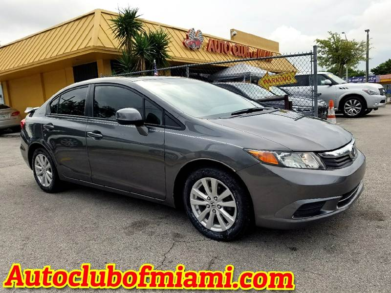 2012 HONDA CIVIC EX 4DR SEDAN gray flawless 2012 honda civic with alloy wheelssunroof and more