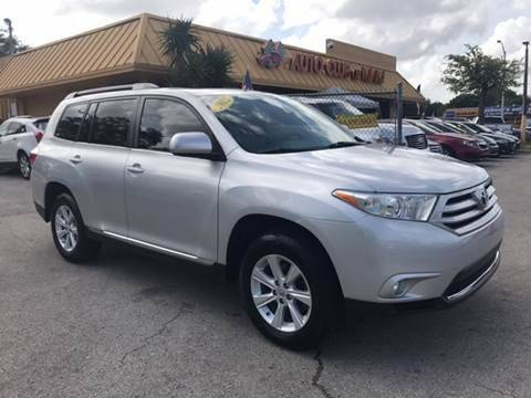 2012 TOYOTA HIGHLANDER SE 4DR SUV 27L L4 silver perfect condition toyota highlander 2012 with
