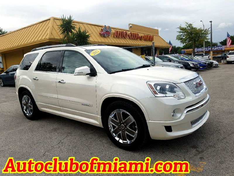 2012 GMC ACADIA DENALI 4DR SUV white all of our vehicles are clean titles financing is available