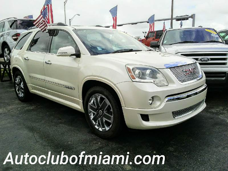 2012 GMC ACADIA DENALI 4DR SUV white leather interior dual power seats navigation system premi