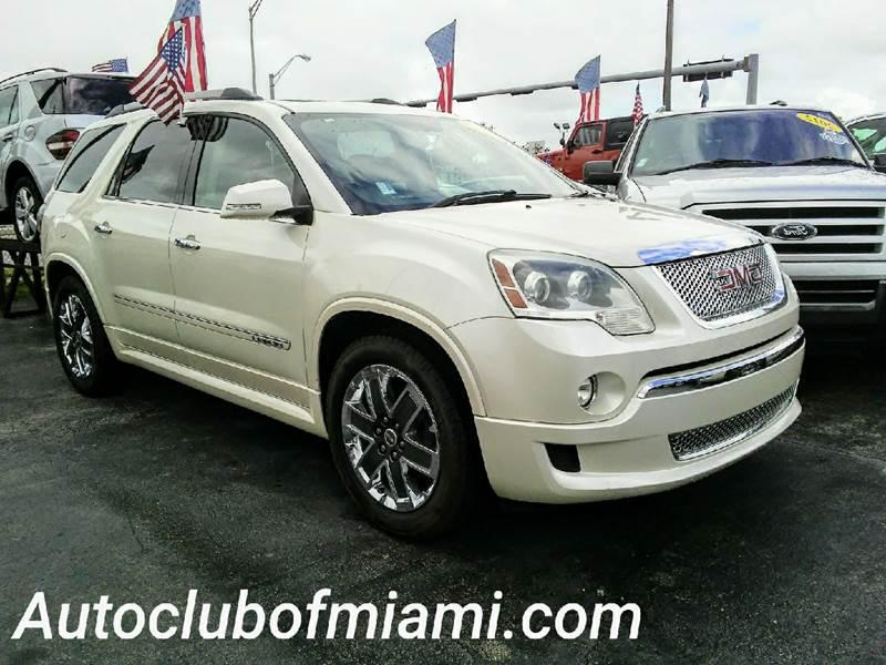 2012 GMC ACADIA DENALI 4DR SUV white leather interior dual power seats navigation system premi