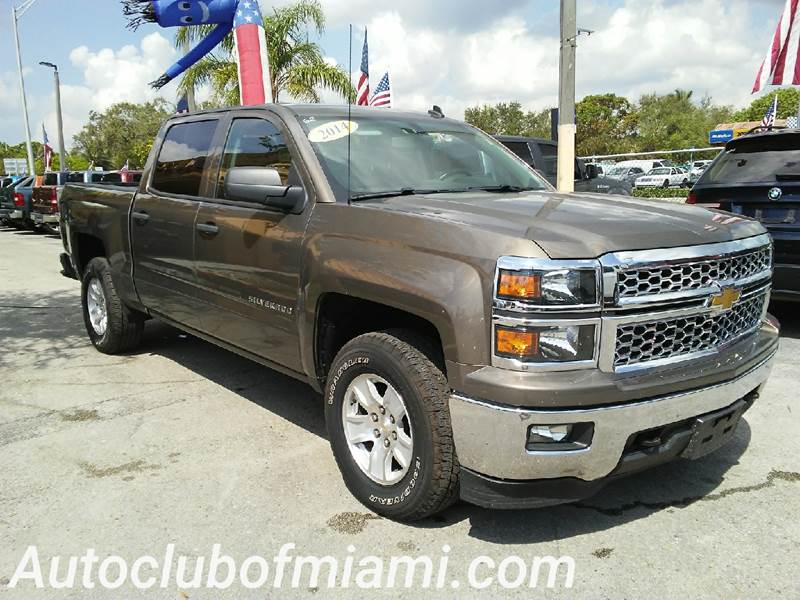 2014 CHEVROLET SILVERADO 1500 LT 4X4 4DR CREW CAB 58 FT SB gold great truck for work or family