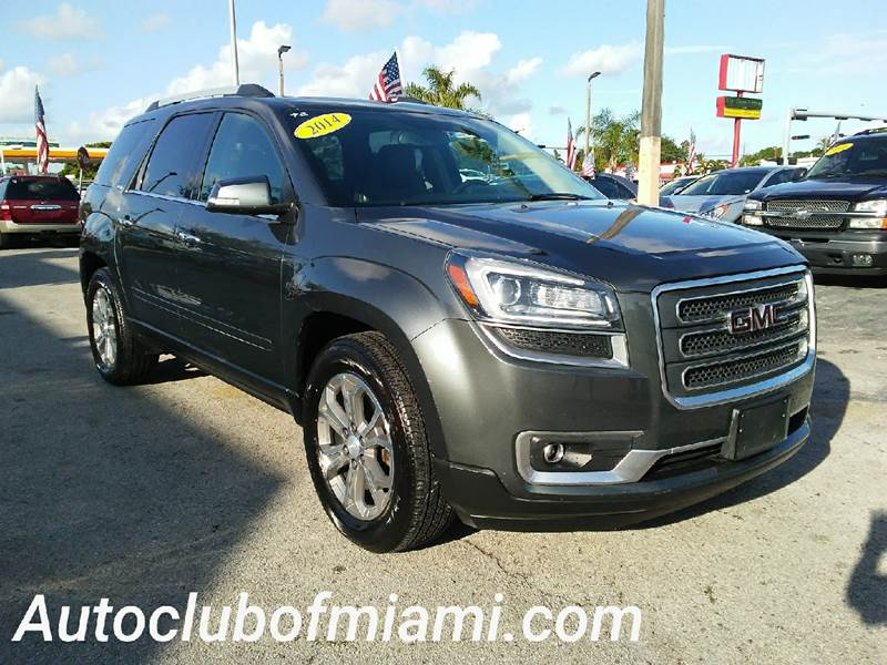 2014 GMC ACADIA SLT 1 4DR SUV gray all of our vehicles are clean titles financing is available f