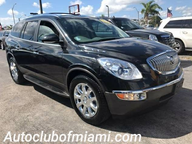 2012 BUICK ENCLAVE LEATHER 4DR CROSSOVER black wow crazy good deal excellent financing dea
