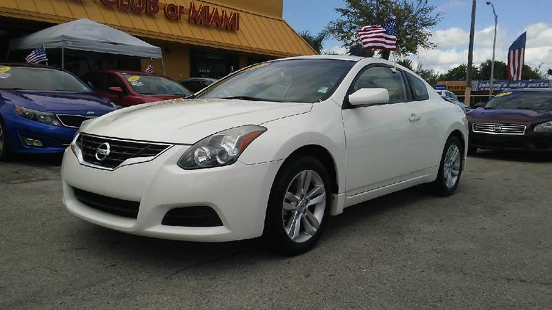 2012 NISSAN ALTIMA 25 S 2DR COUPE 6M white all of our vehicles are clean titles financing is av