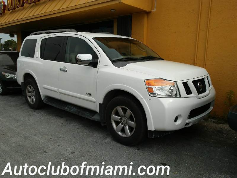 2008 NISSAN ARMADA SE 4X2 4DR SUV white all of our vehicles are clean titles financing is availa