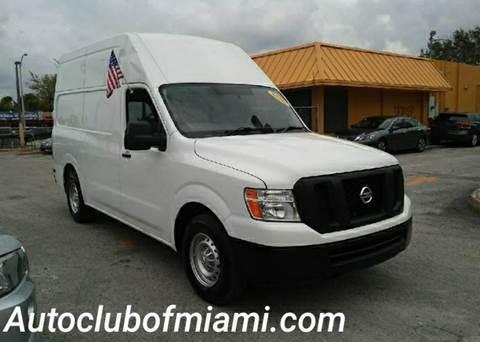2014 Nissan NV Cargo for sale in Miami, FL