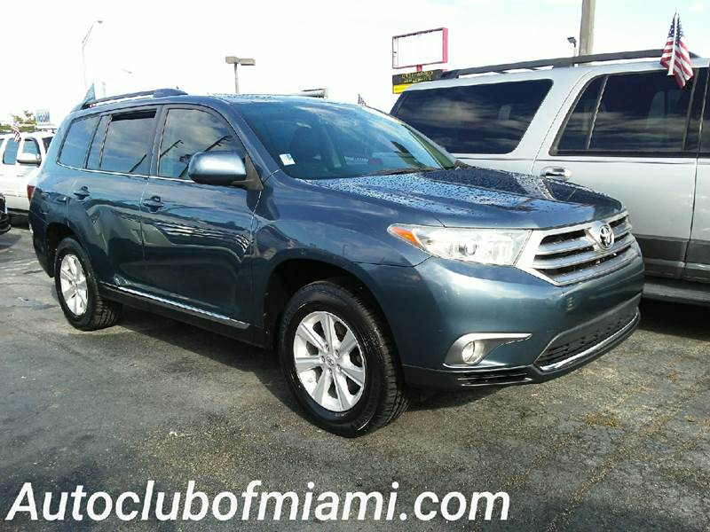 2012 TOYOTA HIGHLANDER BASE 4DR SUV 27L L4 blue all of our vehicles are clean titles financin