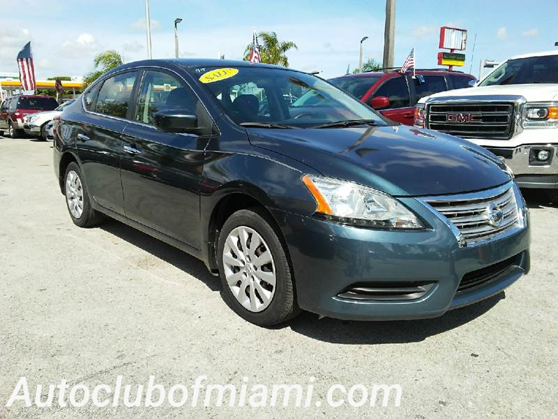 2013 NISSAN SENTRA S 4DR SEDAN 6M green all of our vehicles are clean titles financing is availa