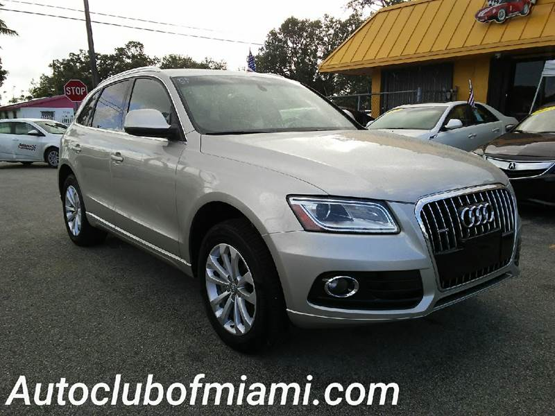 2014 AUDI Q5 20T QUATTRO PREMIUM AWD 4DR SUV silver all of our vehicles are clean titles financ