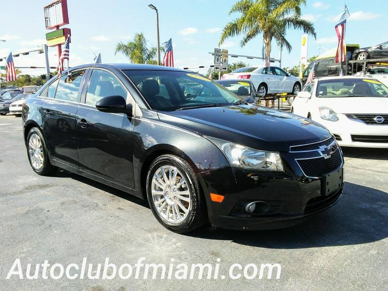 2012 CHEVROLET CRUZE ECO 4DR SEDAN black all of our vehicles are clean titles financing is avail