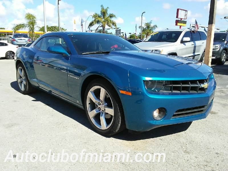 2010 CHEVROLET CAMARO LT 2DR COUPE W2LT blue sunroof v 6 key less entry front bucket seats wi