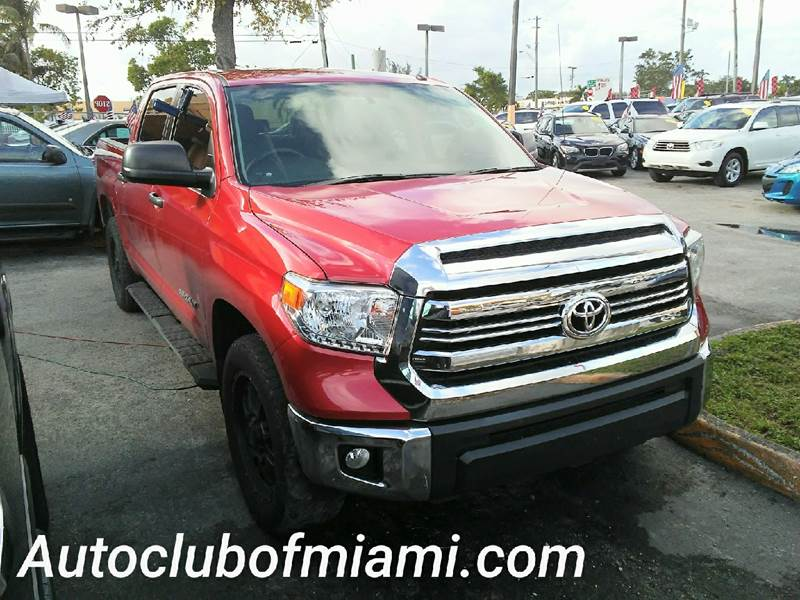 2016 TOYOTA TUNDRA SR5 4X2 4DR CREWMAX CAB PICKUP S red all of our vehicles are clean titles fina