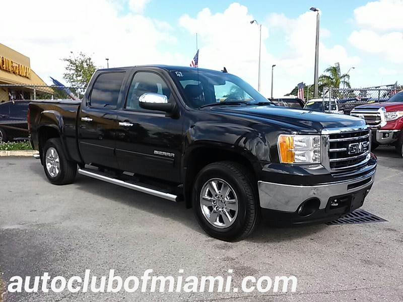 2012 GMC SIERRA 1500 SLE 4X4 4DR CREW CAB 58 FT SB black all of our vehicles are clean titles f