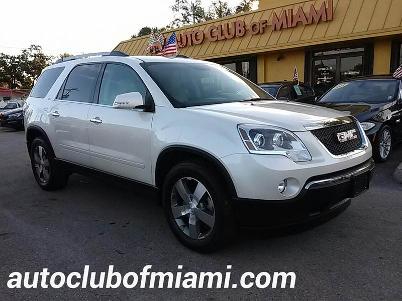 2011 GMC ACADIA SLT 1 4DR SUV white all of our vehicles are clean titles financing is available