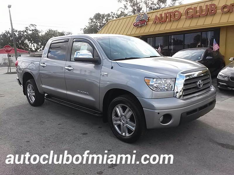 2008 TOYOTA TUNDRA LIMITED 4X2 4DR CREWMAX SB 57L silver all of our vehicles are clean titles f