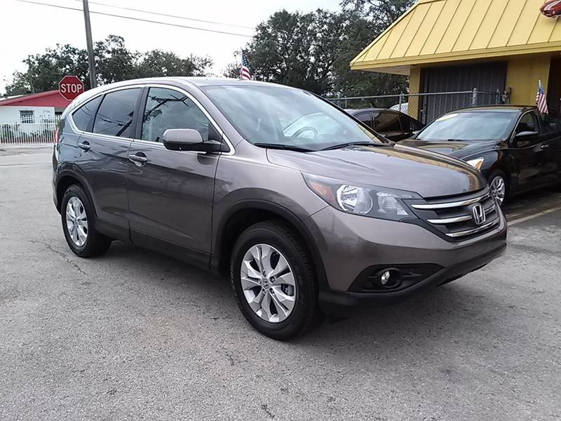 2012 HONDA CR-V EX 4DR SUV gray all of our vehicles are clean titles financing is available for