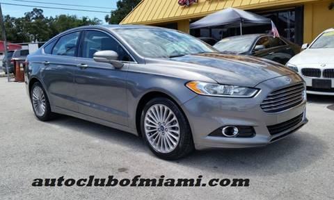 2014 Ford Fusion For Sale >> Ford Fusion For Sale In Miami Fl Auto Club Of Miami Inc