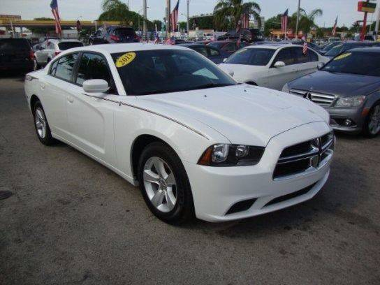 2013 DODGE CHARGER SE 4DR SEDAN white call today this vehicle wongt last long at this priceg
