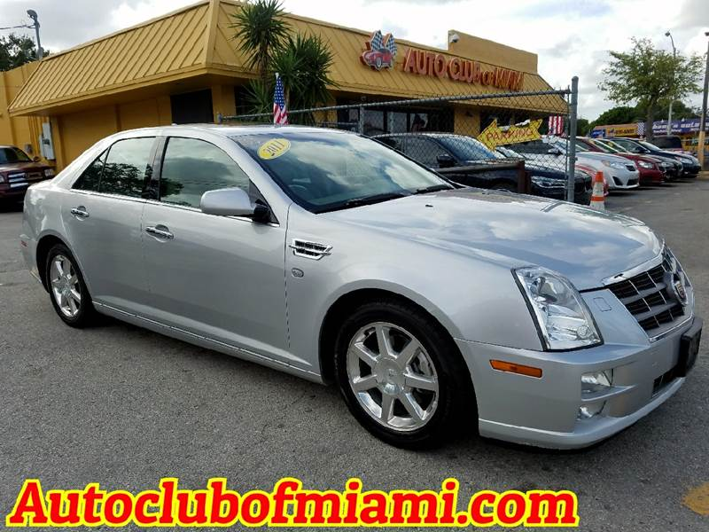 2011 CADILLAC STS V6 LUXURY 4DR SEDAN silver very clean cadillac sts with leather interior bose