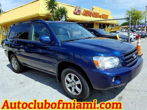 2007 Toyota Highlander for sale in Miami, FL