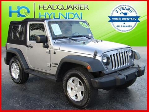 2014 Jeep Wrangler for sale in Sanford FL